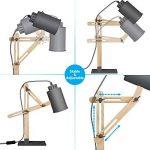 Tomons Design Lampe de bras oscillant à plusieurs angles en bois ,Table de bureau ,Table de chevet Lecture du travail et d'étude , E 26/27 socket ,Plusieurs couleurs de lumière,25W et sous gris de la marque Tomons image 2 produit