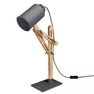 Tomons Design Lampe de bras oscillant à plusieurs angles en bois ,Table de bureau ,Table de chevet Lecture du travail et d'étude , E 26/27 socket ,Plusieurs couleurs de lumière,25W et sous gris de la marque Tomons image 0 produit