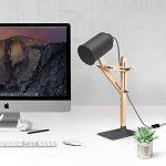 Tomons Design Lampe de bras oscillant à plusieurs angles en bois ,Table de bureau ,Table de chevet Lecture du travail et d'étude , E 26/27 socket ,Plusieurs couleurs de lumière,25W et sous gris de la marque Tomons image 4 produit