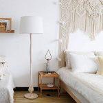 Tomons Lampadaire Blanc Style Scandinave Simple, Abat-jour en Lin Blanc, Douille E26/E27, Hauteur 153cm/60 Pouces, Câble de 1,4m/4,6 Pieds avec Commutateur de pied - FL2001 de la marque tomons image 1 produit