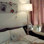 Tomons Lampadaire Blanc Style Scandinave Simple, Abat-jour en Lin Blanc, Douille E26/E27, Hauteur 153cm/60 Pouces, Câble de 1,4m/4,6 Pieds avec Commutateur de pied - FL2001 de la marque tomons image 2 produit