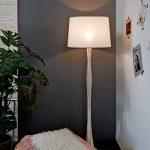 Tomons Lampadaire Blanc Style Scandinave Simple, Abat-jour en Lin Blanc, Douille E26/E27, Hauteur 153cm/60 Pouces, Câble de 1,4m/4,6 Pieds avec Commutateur de pied - FL2001 de la marque tomons image 3 produit