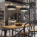 Tomons Lampe de Plafond Noir, Ampoule LED E27 Moderne Câble Nylon pour Maison de la marque tomons image 1 produit