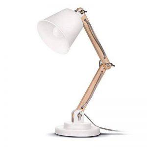 Tomons Lampe de Table Décoration, Design Vintage pour Bureau et Table de Chevet, Salon, en Bois, ampoule LED incl.,Blanche de la marque Tomons image 0 produit