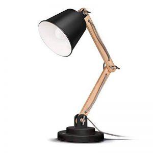 Tomons Lampe de Table Décoration, Design Vintage pour Bureau et Table de Chevet, Salon, en Bois, ampoule LED incl., Noire de la marque Tomons image 0 produit