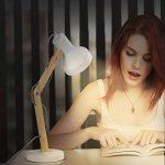 Tomons Lampe de Table Décoration, Lampes de lecture, Design pour Bureau et Table de Chevet, Salon, en Bois, ampoule LED, Blanche de la marque tomons image 3 produit