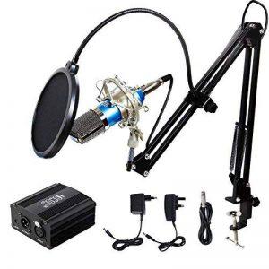 Tonor Microphone à Condensateur XLR à 3,5 mm podcasting Studio Enregistrement Professionnel Kit micro avec Alimentation Fantôme 48V et Convertisseur AC EU Bleu de la marque Tonor image 0 produit