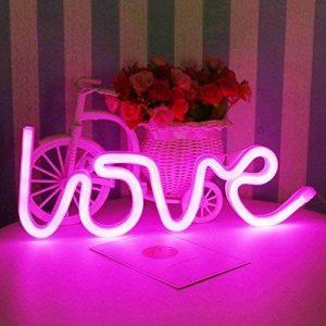 TOOGOO Fetes Forme de lettre de LOVE Veilleuse de LED Neon suspendu pour la decoration de la fetes et le mariage, Ampoule d'eclairage,Lumiere rose de la marque TOOGOO image 0 produit