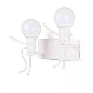 TOOGOO Moderne petites personnes applique murale LED installation creative fer bougeoir enfant eclairage bebe chambre salon chambre decoration (blanc) de la marque TOOGOO image 0 produit