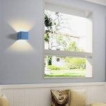 Topdeng Cube Lampe Murale, Macarons Led économiseuse D'énergie Aluminium Plaqué Éclairage Mural, Salon Chambre Café Bar/pub Applique Murale-Bleu Blanc Chaud de la marque TopDeng image 1 produit