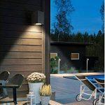 Topmo-plus 5W Lámpara mural applique design pour intérieur / extérieur étanche IP65 aluminium spotlight salon / terrasse / jardin GU10 lumières incluses 10CM gris (Gris / Blanc naturel) de la marque topmo-plus image 1 produit