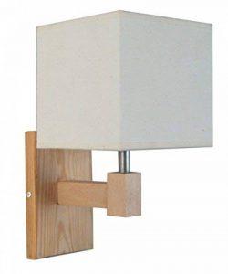 Tosel 31216 Applique Frigga Abat-Jour Coton 60 W E14 Bois Naturel de la marque Tosel image 0 produit