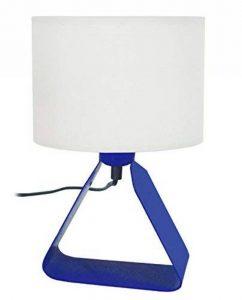 Tosel 64030 Olivia Lampe de Chevet Tôle Acier/Peinture Époxy/Coton Bleu Marine 180 x 290 mm de la marque Tosel image 0 produit