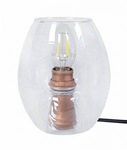 Tosel 65217 Lampe Chevet 1 Lumière, Verre/, E27, 40 W, Transparent, 13,5 x 16 cm de la marque Tosel image 0 produit