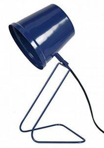 Tosel 90123 Factory Lampe de Bureau/Chevet Tôle Acier Repoussé/Peinture Époxy Bleu Marine 180 x 380 mm de la marque Tosel image 0 produit