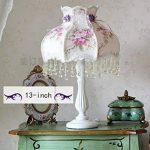 TOYM UK-Jardin dentelle style européen tissu décoratif lampe de chevet de chambre de la marque BTB Lampes image 1 produit