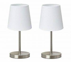 """Trango 2 pack lampe de table Lampe de chevet lampe de bureau Lampe """"Whitney"""" avec abat-jour en tissu en blanc 2TG2017-09W de la marque Trango image 0 produit"""