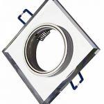 Trango 3x tg6729(R)-Design 3HP Luxe dans Spot encastré rond avec handgeschliffenes Aluminium et verre satiné (Opaque) + 3x GU104,2W High Power LED lm & GU10Boîte de raccordement de la marque Trango image 3 produit