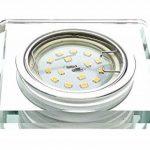 Trango 3x tg6729(R)-Design 3HP Luxe dans Spot encastré rond avec handgeschliffenes Aluminium et verre satiné (Opaque) + 3x GU104,2W High Power LED lm & GU10Boîte de raccordement de la marque Trango image 1 produit