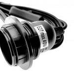 Trango Lampe suspension Lampe navette hänge Lampe avec douille E27avec Interrupteur–Douille E27Blanc avec 5m de câble à bague Interrupteur 1 x 3,5m schwarz de la marque Trango image 2 produit