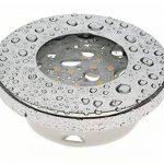 Trango Lot de 3IP44spot Chrome brillant Bain/Douche/Sauna avec 3x GU106W Ampoule LED 3000K W-laqué blanc & Culot Leuchten encastrable en acier inoxydable inoxydable tg6729ip 038–6W de la marque Trango image 2 produit