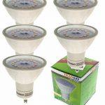Trango lot de 5 projecteurs à encastrer LED dimmables spots encastrables TG6729-058GU5SD pivotant y compris 5x LED GU10 dimmable directement 230V (blanc) de la marque TRANGO image 3 produit