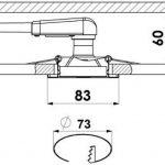 Trango Lot de 6carrée Look acier inoxydable Spot tg6729–062sb avec 6x GU103W Power SMD Ampoule LED encastrables plafonniers orientable 230V de la marque Trango image 2 produit