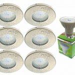 Trango Lot de 6IP44spot nickel mat Bain/Douche/Sauna avec 6x 6W GU10Ampoule LED 3000K W-laqué blanc & Culot Leuchten encastrable en acier inoxydable inoxydable tg6729ip 062–6W de la marque Trango image 4 produit
