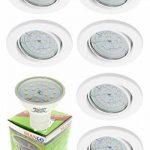 Trango Lot de 6ronde blanche Spot Encastrables avec 6x GU106W Power LED SMD ampoule & sécurité Connectique 230V GU10tg6729–066–6W de la marque Trango image 1 produit