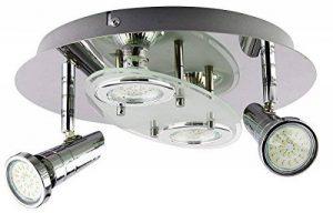 Trango ® plafonnier 4 ampoules lED design rond pour salle de bains en tG3088 4 x ampoule lED gU10 230 v de la marque Trango image 0 produit