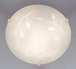 Trango Plafonnier de salle de bain en verre avec culot E27compatible avec toutes les ampoule LED 230V Moderne Deckenleuchte floral de la marque Trango image 0 produit