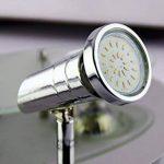 Trango Plafonnier LED carré à 4ampoules, plafonnier design, plafonnier pour salle de bain, TG3089,4ampoules LED GU10230V de la marque Trango image 2 produit