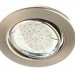 Trango Spot LED encastrable Look acier inoxydable dans rond tg6729-0X XB +GU103W Power LED SMD encastrables plafonniers orientable 230V, 3er Set, GU10 3.0watts de la marque Trango image 2 produit