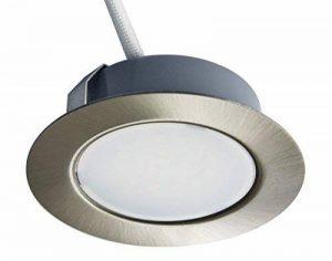 Trango Spot LED variable encastrable 12V c.c./c.a. pour remplacer les lampes G4 traditionnelles pour meubles, hottes de cuisine, etc. Acier inoxydable de la marque Trango image 0 produit