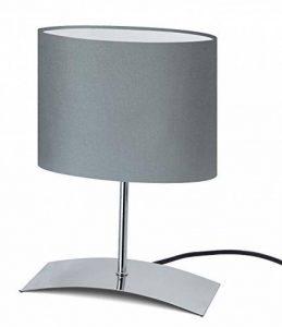 """Trango TG2018-04G Lampe de table design Lampe de chevet lampe de bureau Lampe """"Aigle Gris"""" avec écran en tissu en gris pour ampoules LED E14 de la marque Trango image 0 produit"""
