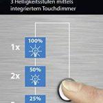 TRIO, Lampe de table, Mats 1xE14, max.40,0 W Tissu, Blanc, Corps: metal, Nickel mat Ø:14,0cm, H:24,5cm IP20,Interrupteur tactile 4 niveaux de la marque Trio image 2 produit