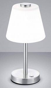 Trio Leuchten Lampe de table métal/abat-jour en verre, intégré, 4W, nickel mat, 15x 15x 29cm de la marque Trio-Leuchten image 0 produit