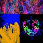 TRIT Art Fluorescent Poudre selbstleuc htend | 5x 20g Nuit éclairage fin pigments–Aiguille Poudre Set avec lampe UV de la marque Tritart image 2 produit