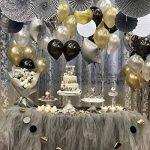 Trofou 12x Lanternes en Papier|Lampion Papier Suspensions Ronde pour Décoration de Mariage, Noël,Maison,Anniversaire,Fête (Doré 12pcs) de la marque Trofou image 2 produit