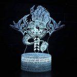 Tsqqst Taoist Taiji Bagua Totem 3D Petite Nuit Lumière Usb Stéréo Led Lampe, Accueil Choi Choi Ville Catastrophe Ouverture Fengshui Lampe Télécommande Colorée, Six Mot Daming Mantra de la marque Tsqqst image 2 produit