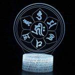 Tsqqst Taoist Taiji Bagua Totem 3D Petite Nuit Lumière Usb Stéréo Led Lampe, Accueil Choi Choi Ville Catastrophe Ouverture Fengshui Lampe Télécommande Colorée, Six Mot Daming Mantra de la marque Tsqqst image 4 produit