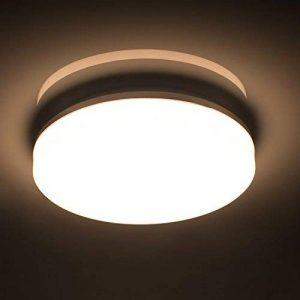 Öuesen 18W imperméable à l'eau LED Plafonnier moderne mince rond LED Lampe de plafond 1650lm Blanc Naturel 4000K Applicable à la salle de bain la chambre la cuisine le salon le balcon et le couloir de la marque image 0 produit