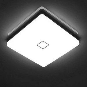 Öuesen24W imperméable à l'eau LED Plafonnier moderne mince carré LED Lampe de plafond 2050lm Blanc froid 5000K Applicable à la salle de bain la chambre la cuisine le salon le balcon et le couloir de la marque Öuesen image 0 produit