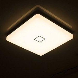 Öuesen24W imperméable à l'eau LED Plafonnier moderne mince carré LED Lampe de plafond Blanc Chaud 3000K Applicable à la salle de bain la chambre la cuisine le salon le balcon et le couloir de la marque Öuesen image 0 produit