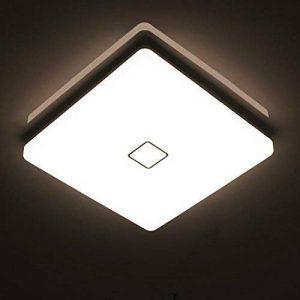 Öuesen24W imperméable à l'eau LED Plafonnier moderne mince carré LED Lampe de plafond Blanc Naturel 4000K Applicable à la salle de bain la chambre la cuisine le salon le balcon et le couloir de la marque image 0 produit