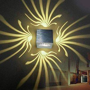 uksunvi LED 3W Applique murale AC85-265V Moderne aluminium lampe créative lumières intérieures pour la maison lumière d'économie d'énergie lumière led lampe décoration murale (Blanc chaud) de la marque uksunvi image 0 produit