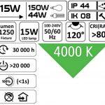 UltraSlim LED 15W IP44Montage Panneau rectangulaire–Luminaire plafonnier 230V–tagesweiß (4000K) de la marque HAVA image 4 produit