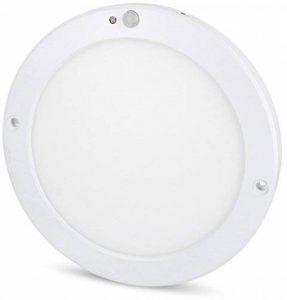 UltraSlim LED Capteur 18W Panneau Plafonnier–avec détecteur de mouvement + capteur crépusculaire–Transformateur LED intégré -, Tagesweiß (4000 K), LED 18.00 wattsW 230.00 voltsV de la marque HAVA image 0 produit