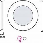 UltraSlim Panneau LED 3W 230V Aluminium Spot rond Moderne kaltweiß (6400 K) de la marque HAVA image 2 produit
