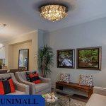 Unimall 25W Lustre Suspension Luxe avec 4 d'ampoules G9 en Cristal Plafonnier Pendendif Lumière de Plafond pour Salon Salle à manger Cuisine Chambre à coucher Boutique Café Bar Bureau (style5) de la marque Unimall image 1 produit